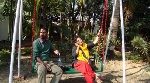 sampurna - quiet moment at the Kolkata workshop