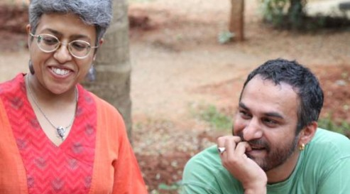 (Sampurna Chattarji and Arjun Bali at the Sangam House translation workshop.... see more photos on our facebook page)