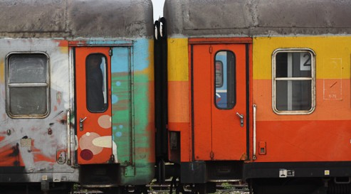 Trains in Serbia from Owen Martell's journey