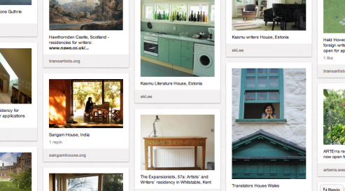 A world away - a LAF pinterest pin-board of residencies for writers and translatorshttp://pinterest.com/makinglittravel/a-world-away-residencies-for-writers-and-translato/