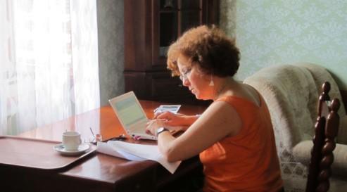 Tiziana Colusso working at Smolenice Castle workshop