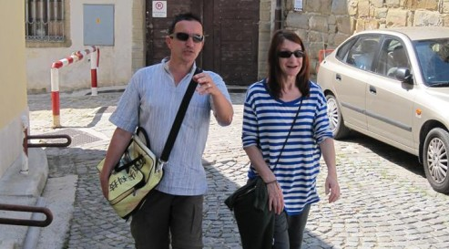 Brane and Patrizia taking a look around