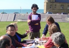 Outdoors workshop Aberystwyth Wales India Writers Chain June 2011 (2)
