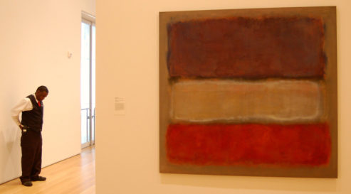 Mark Rothko: Purple, white and red (1953)